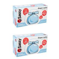 Sassy Disposable Diaper Sacks, 200ct - Multipacks - 2 pack (400)