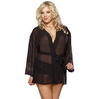 Queen Awake Desire Robe 8740X by Dreamgirl Black