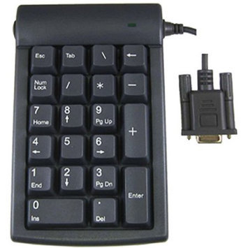 Genovation Micropad 623 Numeric Keypad - Serial - 21 Keys - Gray