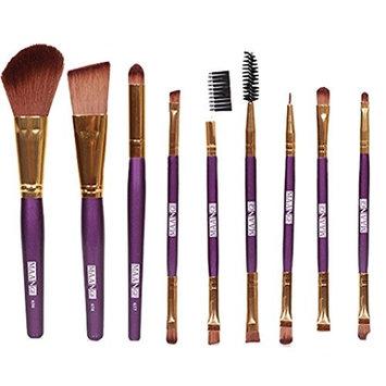 Toraway Pro 9pcs Makeup Cosmetic Brushes Eyeshadow Eye Shadow Foundation Blending Brush (Purple)