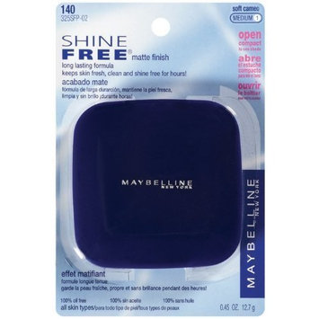 Maybelline New York Shine Free Matte Finish Powder, Soft Cameo, Medium 1, 2 Ea by Maybelline