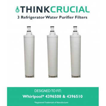 Crucial Air 3 Whirlpool 4396508 (RFC0500A) Refrigerator Water Purifier Filters Fit Whirlpool 4392857 & 4392857R