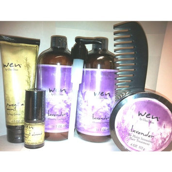 WEN by Chaz Dean Lavender (2x 16 oz) Hair Treatment Styling Cream Texture Balm Comb Set Cleansing 90 Day Supply