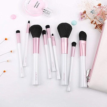 Docolor 10pcs Makeup Brushes Set Makeup Brushes Premium Synthetic Material,Face Foundation Powder Blending Blush Eye Shadow Brow Concealer Lip Cosmetic Brushes Kit with Free Cosmetic Bag