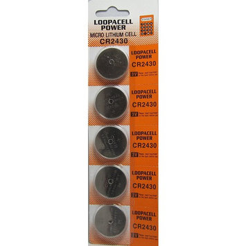 CR2430 Loopacell Lithium Batteries (1 Pack of 5)