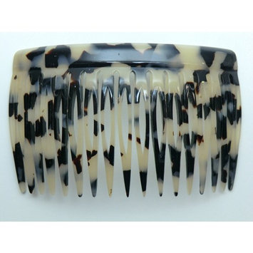 Charles J. Wahba Side Comb Pairs - 17 Teeth (Black Color) Handmade in France