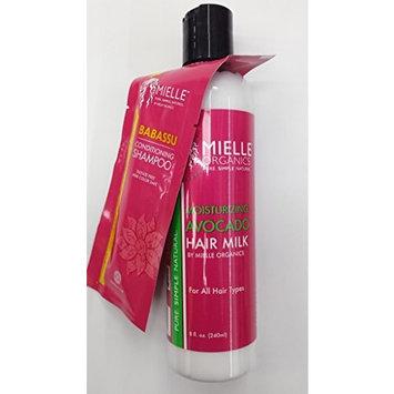 Mielle Organics Moisturizing Avocado Hair Milk for All Hair Types and Babassu Conditioning Shampoo Trial Size 0.375oz