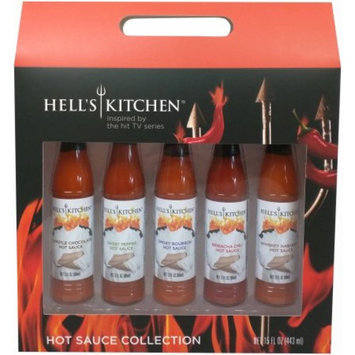Hell's Kitchen Hot Sauce Collection Set Holiday Gift, 15 fl oz