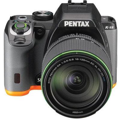 Pentax K-S2 Digital SLR Camera with 18-135mm WR Lens, Orange/Black