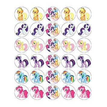 My Little Pony Cupcake Toppers Edible Wafer Paper BUY 2 GET 3RD FREE