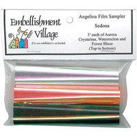 Embellishment Village 85804 Angelina Film Sampler 4 in. x 3 ft. 3PkgSedona AuroraForest BlazeWatermelon