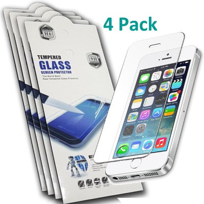 Deltafill, Inc. IPhone SE Ultra Thin Clear HD 9H Hardness Tempered Glass Screen Protector 4Pack