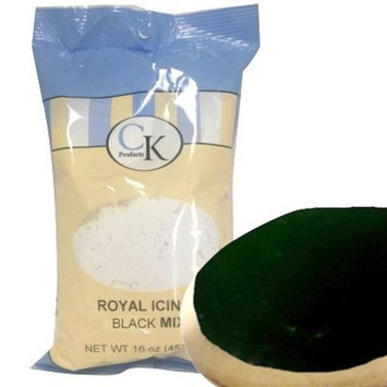CK Products 77-101K Cake Decorating Royal Icing Mix, 1 lb, Black [Black]