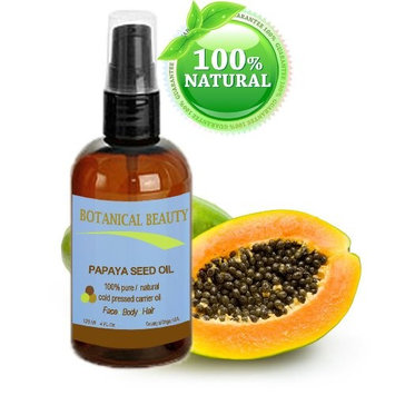 PAPAYA SEED OIL. 100% Pure / Natural / Undiluted /Refined Cold Pressed Carrier oil. 4 Fl.oz.- 120 ml. For Skin, Hair and Lip Care.