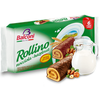 Balconi Sponge Cakes with Hazelnut Filling (Rollino) 6pc