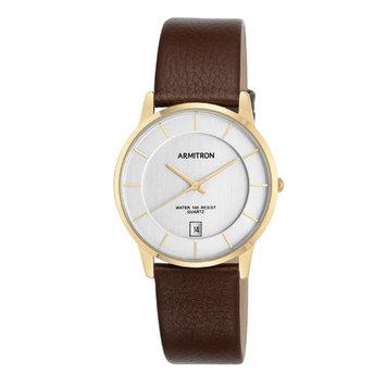 Armitron Brown Leather Strap Watch
