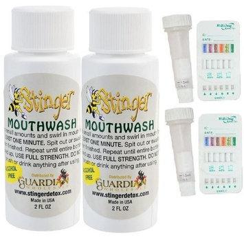 2 Stinger Detox Mouthwash with 2 saliva drug tests(6 Panel) BZO/COC/AMP/OPI/THC/MET