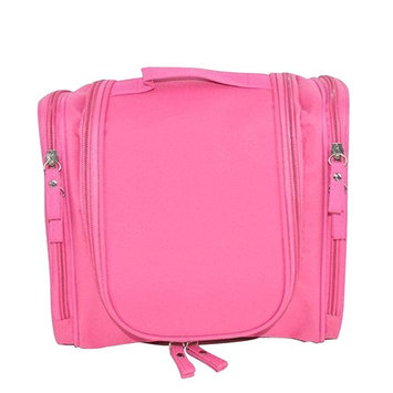 Happy Hours - Portable Waterproof Hanging Toiletry Bag Storage Pouch / Men's and Women's Cosmetic Makeup Case with Mesh Pockets for Outdoor Travel and Homeuse