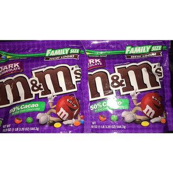 M&M's Dark Chocolate 50% Cacao, 2 Pack 1 Lbs 3 Oz Each one [Dark Chocolate 50% Cacao]