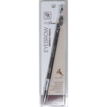 Kiss Products Inc KISS Ruby Kisses Go Brow Eyebrow Perfect Pencil, Light Medium Brown, 0.04 oz