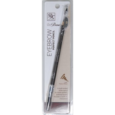 Kiss Products Inc KISS Ruby Kisses Go Brow Eyebrow Perfect Pencil, Light Medium Brown, 0.04 oz