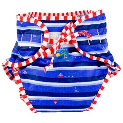 Kushies Swim Diaper, Blue Ahoy Print, Medium
