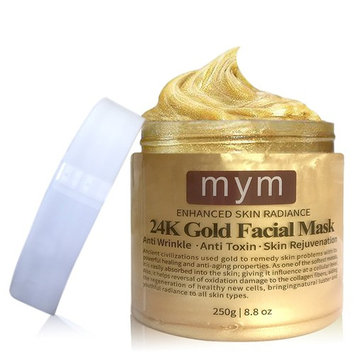 MyM 24k Luxurious Gold Facial Mask--- Lift and Firm To Re-Energized The Looking Of Skin, Revitalizes, Lifts, Firms, Brightens, Hydration, Smoothes and Refreshes