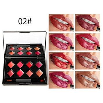 Creazy 8 Colors Beauty Make Up Matte Lipsticks Moisturizer Lip Gloss Cosmetic Set