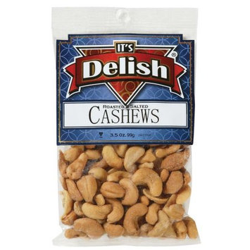 Roasted & Salted Cashews by Its Delish, 3.5 oz Bag