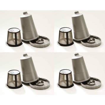 Keurig Coffee Filter Reusable My K-Cup Permanent Refillable Grey Qty 4 Pack