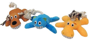 Diggers Assorted Animal Plush Dog Toy - style may vary (08850)