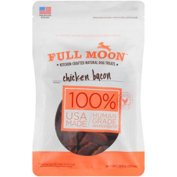 12 Oz Full Moon Kitchen Crafted 100% Human Grade Chicken Bacon Dog Treats