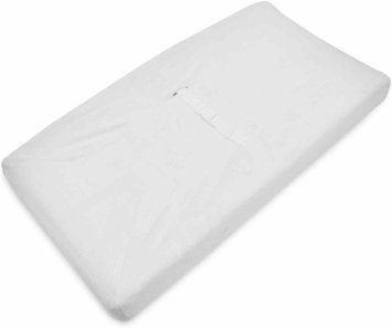 American Baby Company Heavenly Soft Contoured Pad Changing Table Cover - White - 2 Pack