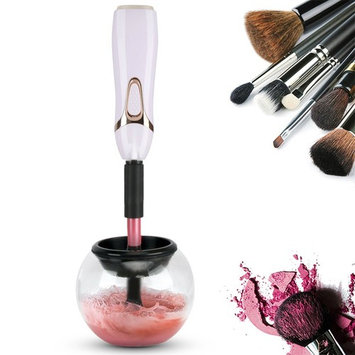 Makeup Brush Cleaner, Makeup Cleaning Brush Machine Cleans and Dries All Makeup Brushes Kits in Seconds No Fray Brushes Auto Electric Spinning Makeup Brushes Clean