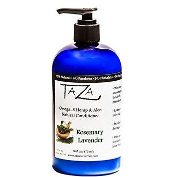 Premium Taza Natural Omega-3 Hemp & Aloe Rosemary Lavender Conditioner, 16 fl oz ♦ For Healthy Hair ♦ Contains: Hemp Seed Oil, Coconut Oil, Aloe Leaf Juice, Pro V B5, Hydrolyzed Wheat Protein