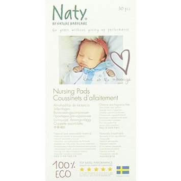 Nature babycare Eco Nursing Pads, 30 Count