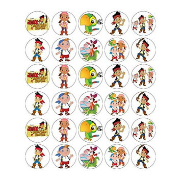 Jake And The Neverland Pirates Cupcake Toppers Wafer Paper BUY 2 GET 3RD FREE