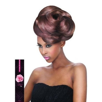 Outre Velvet Virgin Human Hair Weave REMI ROSE YAKI (14 INCH, 1B - OFF BLACK)