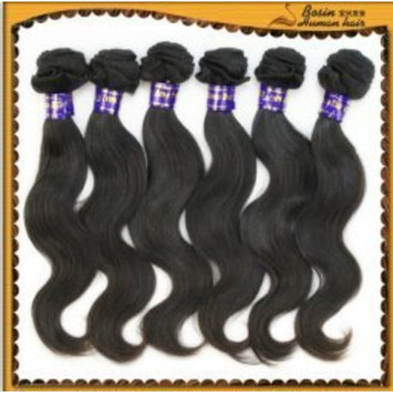 16 inch Indian 100% TRUE VIRGIN Remy Human Hair Extensions #1B Body Wave Weave