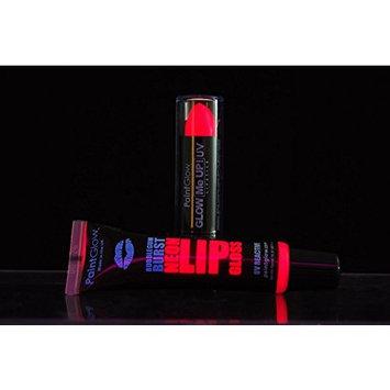 PaintGlow Blacklight Reactive UV Lipstick and UV Lip Gloss Combo
