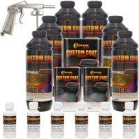 Bed Liner CUSTOM COAT BRIGHT WHITE 6-L Urethane Spray-On Truck Kit w/ Spray Gun