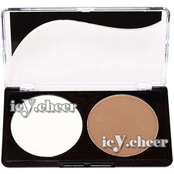 2 Colors Makeup Shading Powder Face Highlight Shadow Concealer Bronzer Nude Kit