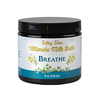 Silky Skin Ultimate Milk Bath Powder | Milk, Honey, Dead Sea Salt | Luxury Mineral Bath Restores Smooth Skin | Not Tested on Animals | Made in America | Breathe Scent