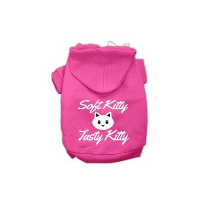 Mirage Pet Products Softy Kitty Tasty Kitty Screen Print Dog Pet Hoodies Bright Pink Size XXXL (20)