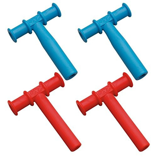 Chewy Tubes Teether, 4 Pack - Blue/Red