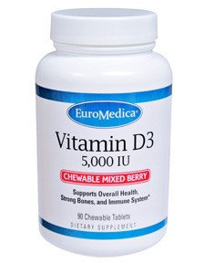 Vitamin D3 5,000IU Mixed Berry 90 Chews by Euromedica