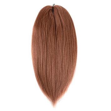 UNA Pre-stretched Braiding Hair Braid ProfessionalCrochet Braids Braiding Hair Extension (24inch.8 Pieces, COLOR 2)