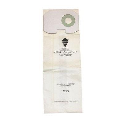 TOUGH GUY 3ZJK4 Filter Bag,2-Ply, Paper, PK10