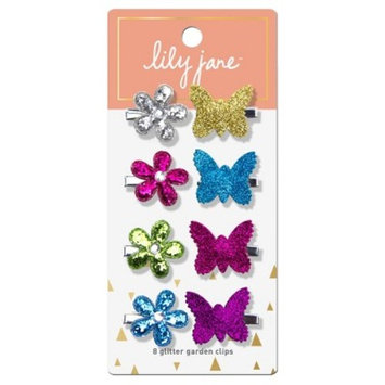 Lily Jane Glitter Garden Clips - 8ct