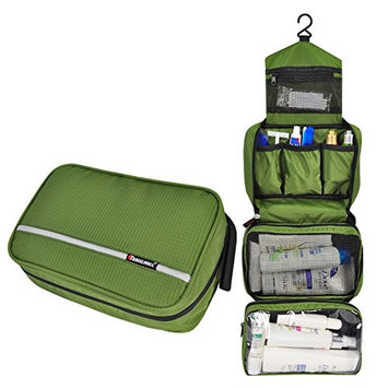 MONSTINA Travel Toiletry Bag Cosmetic Organizers with Hanging Hook Use in Hotel,Bathroom (Toiletry Bag, Army Green) …